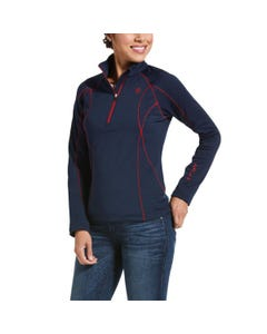 Ariat Womens Conquest 2.0 1/2 Zip - Navy