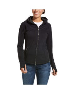 Ariat Womens Attain Full Zip - Black