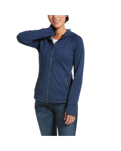 Ariat Womens Attain Full Zip - Marine Blue