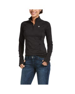 Ariat Womens Lowell 2.0 1/4 Zip - Black Reflective