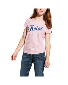 Ariat Girls Logo Tee - Lilac Pearl