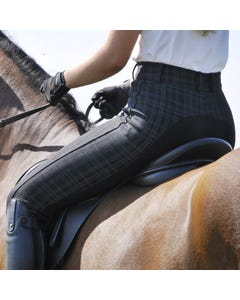 Ladies Essential Checked Breech - Black