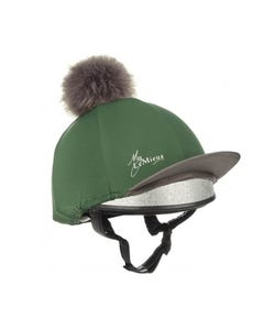 My Le Mieux Luxury Pom Pom Hat Silk - Hunter Green