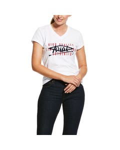 Ariat Womens Crop Logo T-Shirt - White