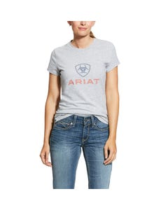 Ariat Womens HD Logo T-Shirt - Heather Grey