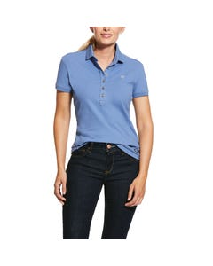 Ariat Womens Prix 2.0 Polo - Blue Heather