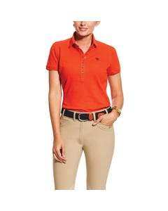 Ariat Womens Prix 2.0 Polo - Red Clay