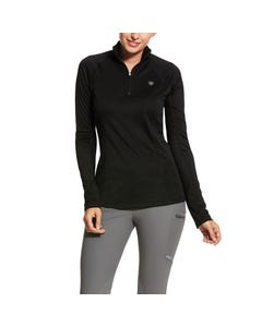 Ariat Womens Sunstopper 2.0 1/4 Zip - Black