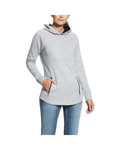 Ariat Womens 3D Logo Hoody - Heather Grey