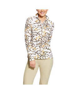 Ariat Womens Sunstopper 2.0 1/4 Zip - Bridle Print