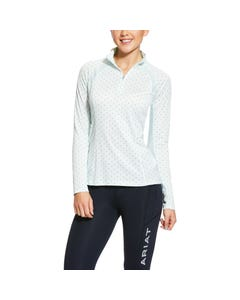 Ariat Womens Sunstopper 2.0 1/4 Zip - Duck Egg Dot