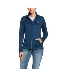 Ariat Womens Tolt Full Zip Sweatshirt - Deep Petroleum