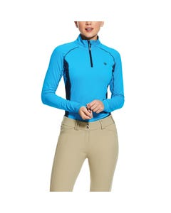 Ariat Womens Tri Factor 1/4 Zip - Nautilus
