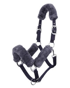 Le Mieux Fleece Comfort Headcollar - Navy/Grey