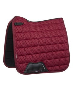 Le Mieux Carbon Mesh Air Dressage Square - Mulberry