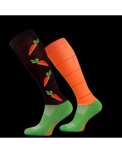 Comodo Carrots Novelty Riding Socks - 39 to 42