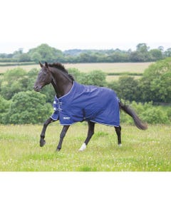 Shires Tempest Original Lite Turnout Rug - Navy/Grey