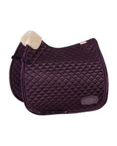 Eskadron Heritage Satin Crystal Dressage Square - Deep Berry