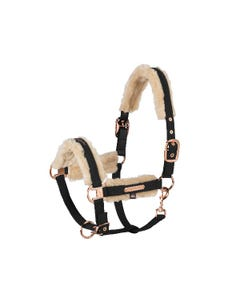 Eskadron Heritage Softshell Fauxfur Double Pin Headcollar - Black