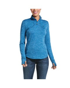 Ariat Womens Gridwork 1/4 Baselayer - Blue Dawn