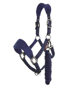 Le Mieux Vogue Fleece Headcollar & Rope - Ink Blue