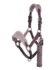 Le Mieux Vogue Fleece Headcollar & Rope Set Musk