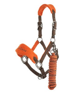 Le Mieux Vogue Fleece Headcollar & Rope - Paprika