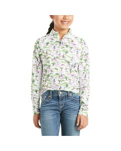 Ariat Youth Sunstopper 2.0 1/4 Zip Cross Country